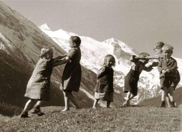 Enfants glacier